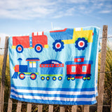 Trains, Planes & Trucks 100% Cotton Beach Towel