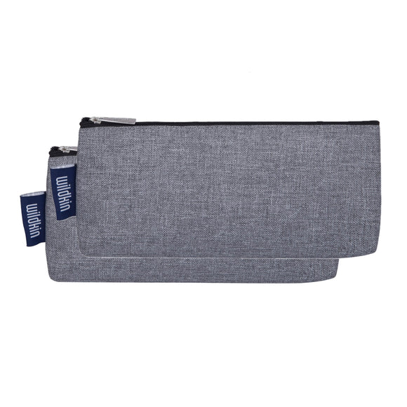 Gray Tweed Pencil Pouches (2 pk)