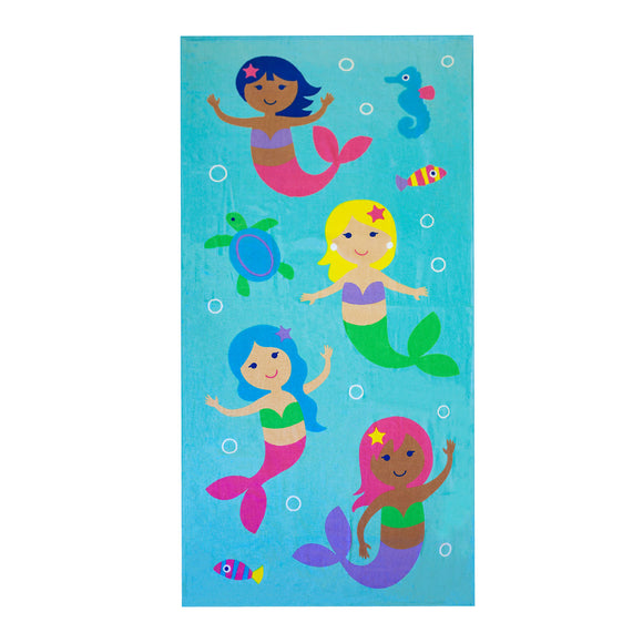 Mermaids 100% Cotton Beach Towel