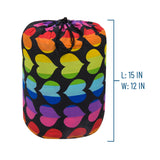 Rainbow Hearts Original Sleeping Bag