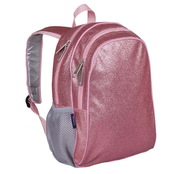 Pink Glitter 15 Inch Backpack