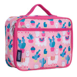 Llamas and Cactus Pink Lunch Box