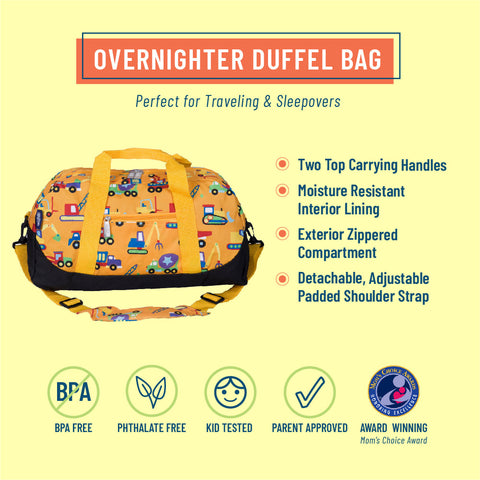 Under Construction Overnighter Duffel Bag