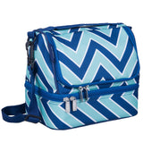 Chevron Blue Two Compartment Lunch Bag