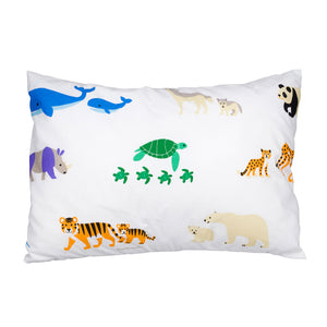 Endangered Animals 100% Cotton Hypoallergenic Pillow Case