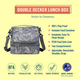 Digital Camo Two Compartment Lunch Bag