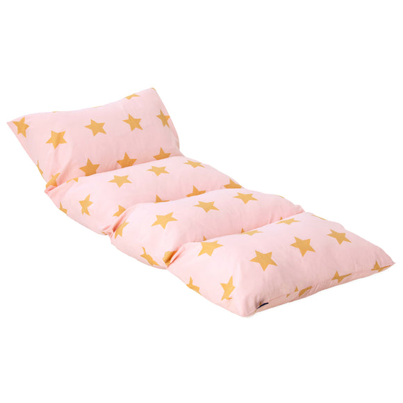 Pink and Gold Stars Pillow Lounger