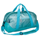 Blue Glitter Overnighter Duffel Bag