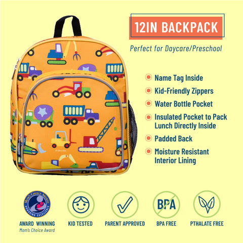Under Construction 12 Inch Backpack