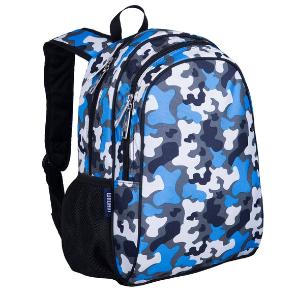 Blue Camo 15 Inch Backpack