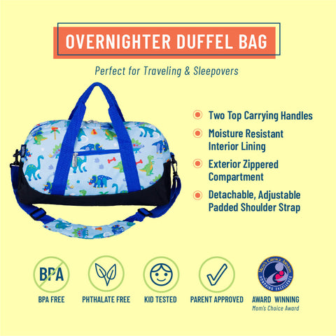 Dinosaur Land Overnighter Duffel Bag