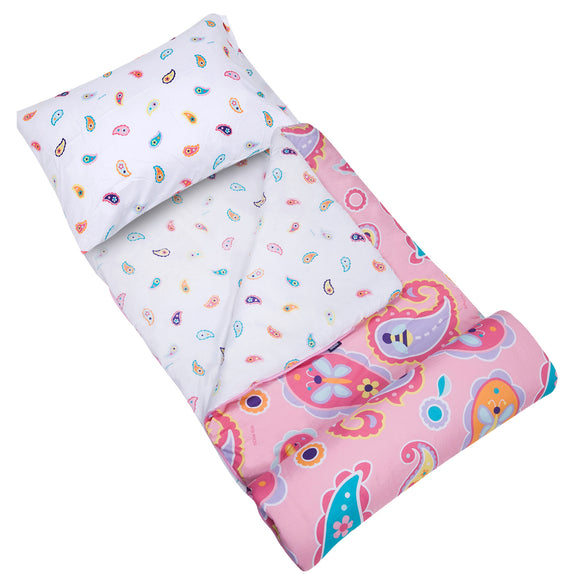 Paisley Microfiber Sleeping Bag w/ Pillowcase