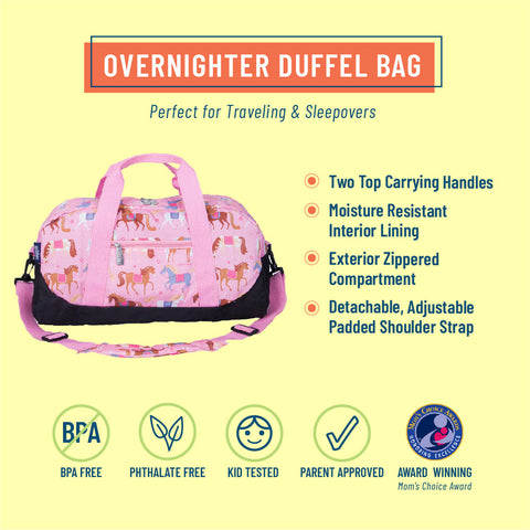 Horses Overnighter Duffel Bag