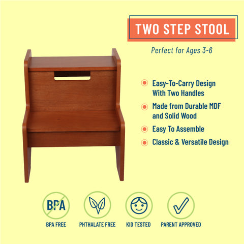 Two Step Stool - Maple Finish