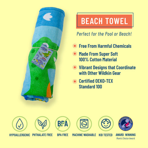 Dinosaur Land 100% Cotton Beach Towel