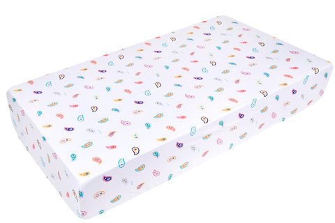 Paisley Microfiber Fitted Crib Sheet