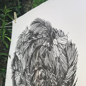 Feather Crown - 24x23 Print