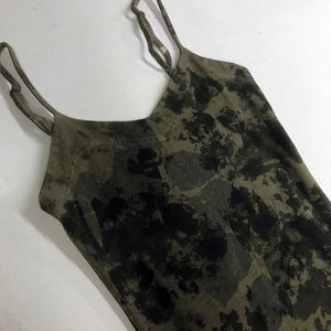 Misprinted Kudzu Slip Dress - Size Small
