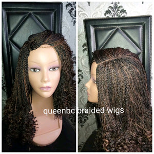 Twist curly tip wig