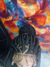 Load image into Gallery viewer, Ponytail triangle box braids Wig