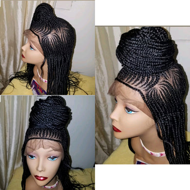 N Middle shuku Cornrow Wig