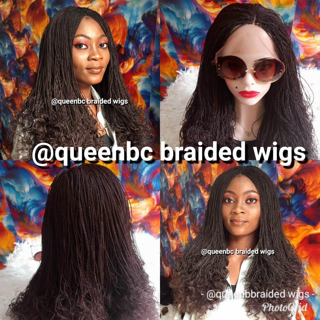 Curly tip Senegalese twist braided wigs