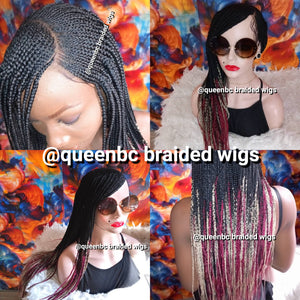 Base braided Cornrow Wig