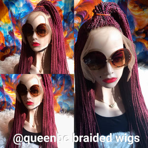 Middle half ponytail Cornrow Wig