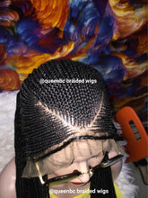 Load image into Gallery viewer, V cut cornrow wig