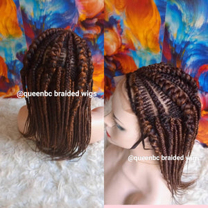 Tiny weave Cornrow Wig