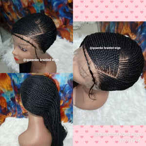Lemonade  braids  lace Cornrow Wig