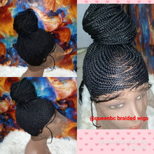 Load image into Gallery viewer, High ponytail braided wig
