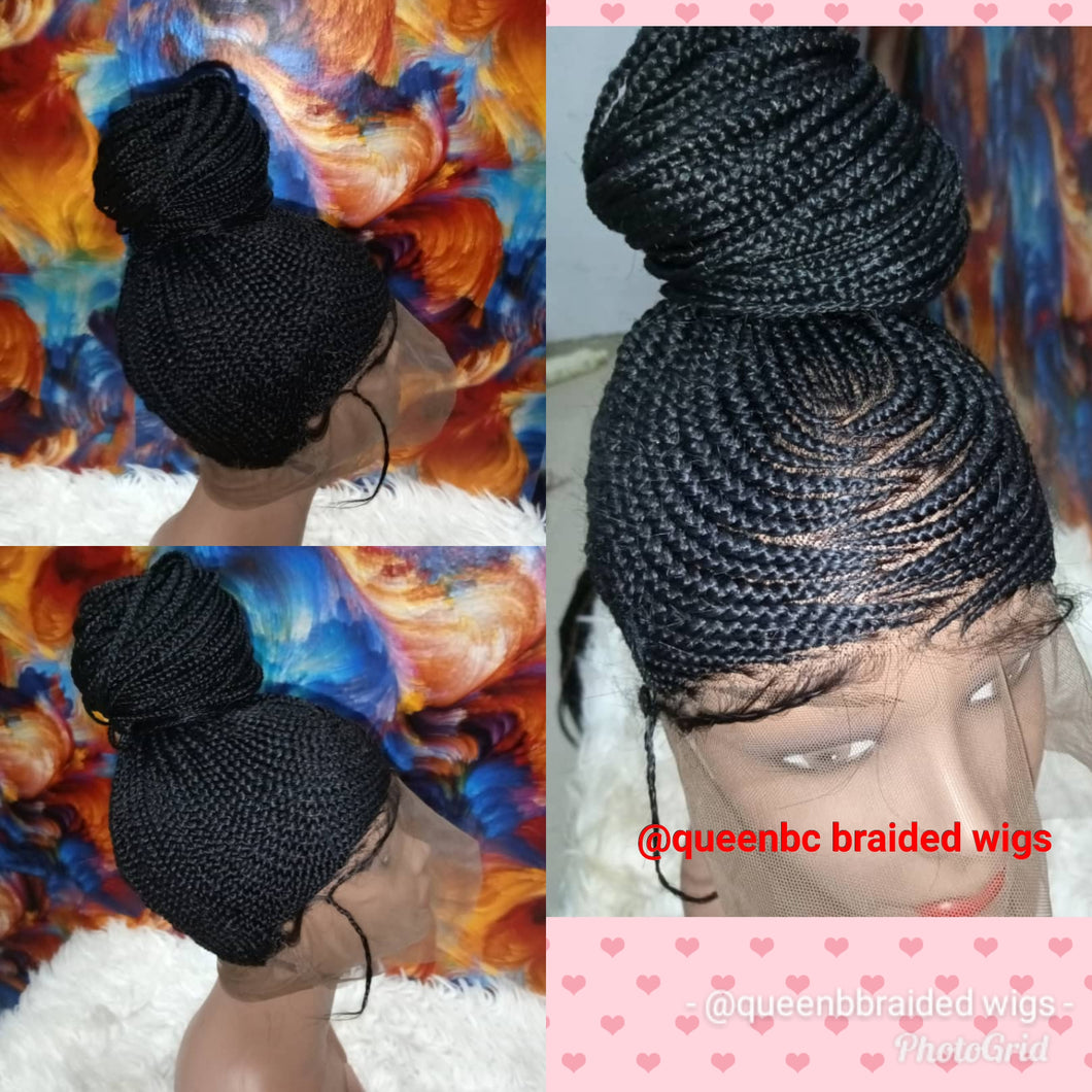 High ponytail braided wig