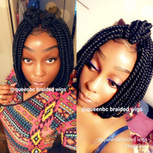 Load image into Gallery viewer, Bob box braids wig