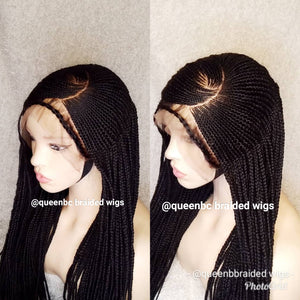 C cut braided Cornrow Wig
