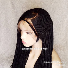 Load image into Gallery viewer, C cut braided Cornrow Wig