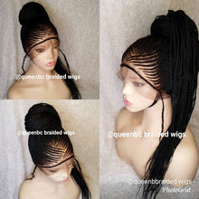 Load image into Gallery viewer, 360 Ponytail Cornrow Wig