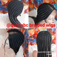 Load image into Gallery viewer, All back  braided Cornrow Wig