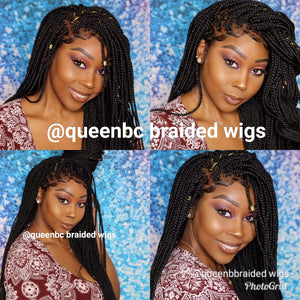 Box braids lace frontal wig