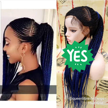 Load image into Gallery viewer, Jalicia ponytail Cornrow Wig