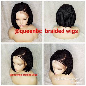 C Cut Bob Cornrow Wig