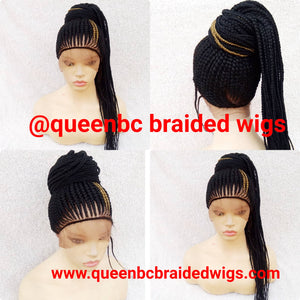 New  ponytail style Cornrow Wig