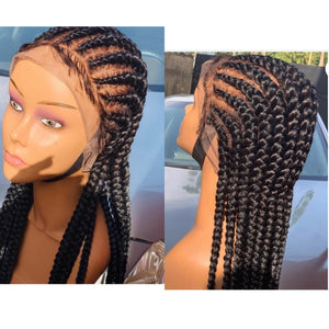 All back 360 lace Cornrow Wig