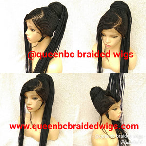 Base  ponytail Cornrow Wig