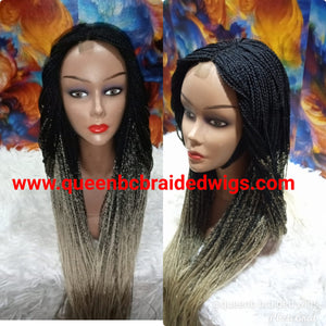 Ready to ship Box braids braided wig