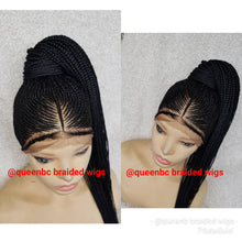 Load image into Gallery viewer, Tribal ponytail Cornrow Wig