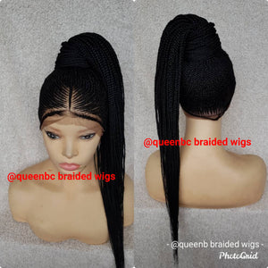 Tribal ponytail Cornrow Wig