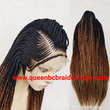 Load image into Gallery viewer, Cornrow middle braids wig