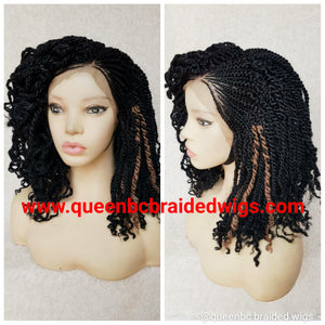 Kinky braids cornrow wig