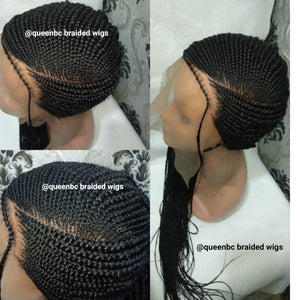 New Lemonade braids Cornrow Wig